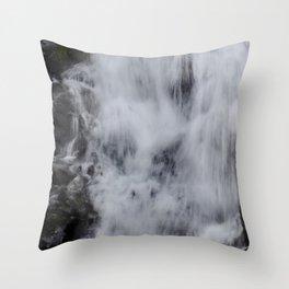 Waterfall Pareidolia Throw Pillow