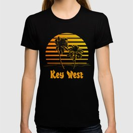 Key West Florida Sunset Palm Trees T-shirt