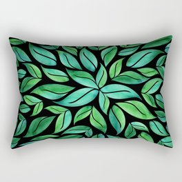 Night Leaves Rectangular Pillow