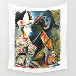 Pablo Picasso Le clown et l'Harlequin (The Clown and the Harlequin) 1971 Artwork, tshirt, tee, jerse Wall Tapestry