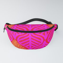 PLANTAIN PALACE - RED/PINK/ORANGE Fanny Pack