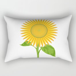 Giant Sunflower Rectangular Pillow