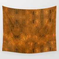 gold foil Wall Tapestries featuring Gold Foil 10 by Robin Curtiss