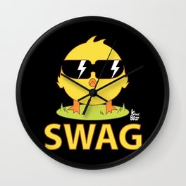 Swag Chick Wall Clock
