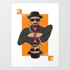 Walter White king of clubs Art Print