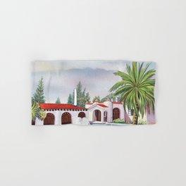 'Hacienda con fuente' landscape portrait by Antonio Ruiz Hand & Bath Towel