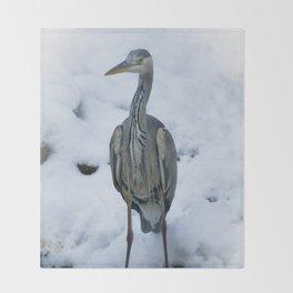Grey Heron Throw Blanket
