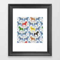 Dala Horse pattern Framed Art Print