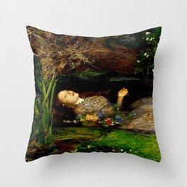 """John Everett Millais """"Ophelia"""" Throw Pillow"""