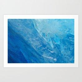glacial ice 2 Art Print