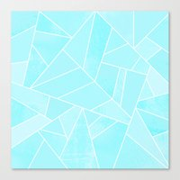 ice Canvas Prints featuring Ice by Elisabeth Fredriksson