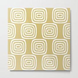 Mid Century Modern Concentric Pattern 256 Metal Print