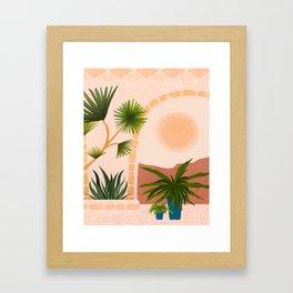 Dreamy Desert View Framed Art Print