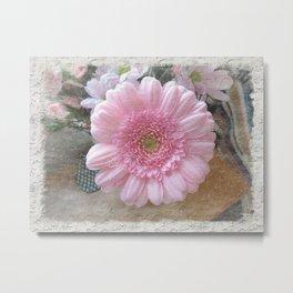 Pink Candy Floss Metal Print