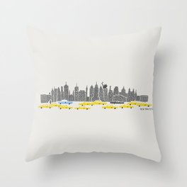 New York City Panoramic Throw Pillow