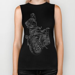 Woman Motorcycle Rider Biker Tank