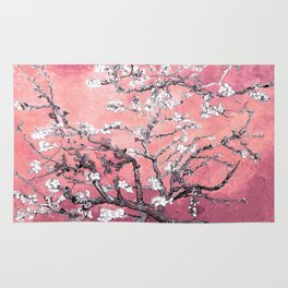Van Gogh Almond Blossoms : Peachy Pink Rug