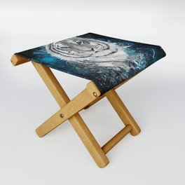 Tiger, don't stop...BE strong Folding Stool
