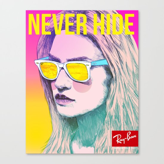 Ray-Ban Never Hide Canvas Print