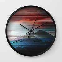 pocket fuel Wall Clocks featuring COV00 - NOSTALGIA FUEL by Temp