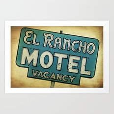 El Rancho Motel Route 66 Art Print