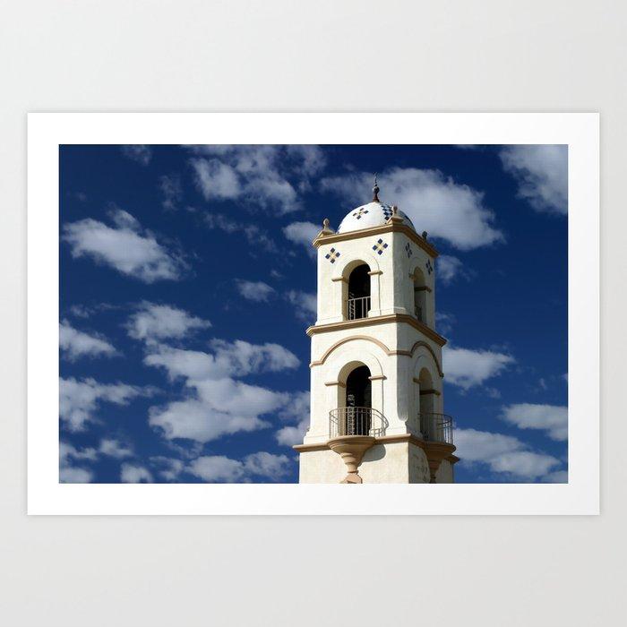 Ojai Post Office Tower Art Print