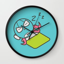 Sleeping Octopus Wall Clock
