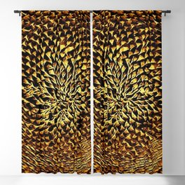 Gold Chrome Sunflower Portrait by Jeanpaul Ferro Blackout Curtain