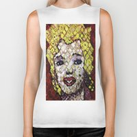 marylin monroe Biker Tanks featuring MARYLIN MONROE by JANUARY FROST