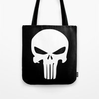 punisher Tote Bags featuring The Punisher by sokteulu