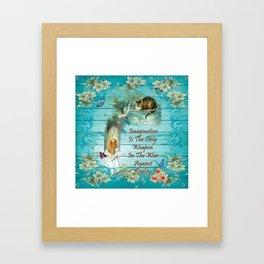Floral Alice In Wonderland Quote - Imagination Framed Art Print