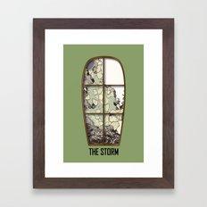 Windows the storm Framed Art Print