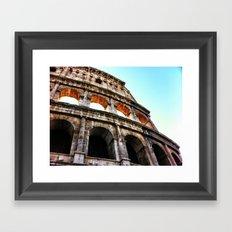 Colosseum lights Framed Art Print