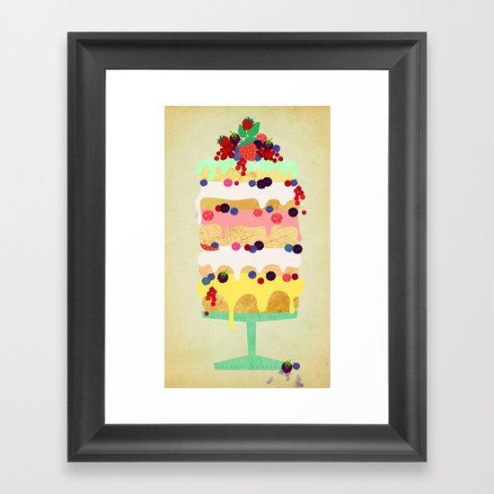 Fairy Cake Framed Art Print