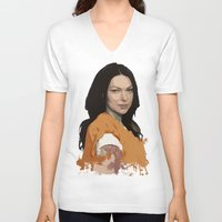 alex vause V-neck T-shirts featuring Vause Ass Bitch. by Fashionable