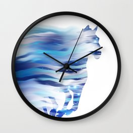 Horse whispered by the wind Wall Clock