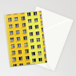 Yellow Urban Geometry Stationery Cards