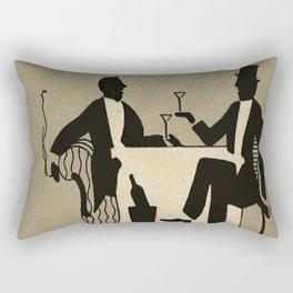 Vintage Dapper Men with Martinis Rectangular Pillow