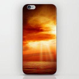 sunrise in the sea iPhone Skin