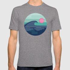 Cya Later - 70's retro ocean wave vintage style throwback 1970s minimal art Tri-Grey MEDIUM Mens Fitted Tee