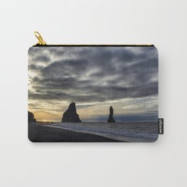 Reynisfjara at Sunset - Iceland  Edit Carry-All Pouch