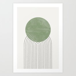 Green Sun Positive Vibe  Art Print