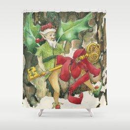 Thorn the Holly Kingdom Gatekeeper Shower Curtain