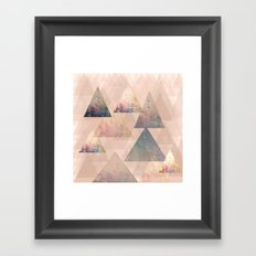 Pastel Abstract Textured Triangle Design Framed Art Print