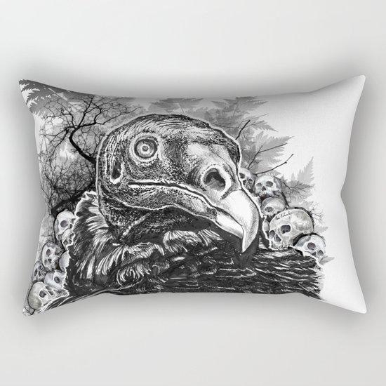Vulture and Pine Rectangular Pillow