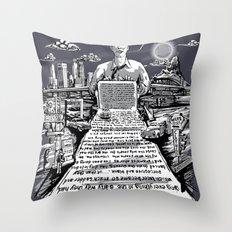 on the road - kerouac  Throw Pillow