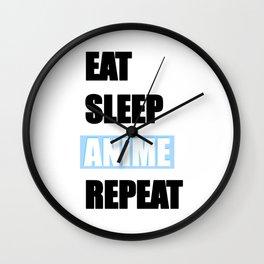 Eat, Sleep, Anime, Repeat! Wall Clock