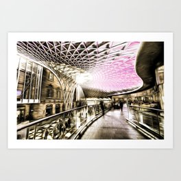 Futuristic London Art Art Print