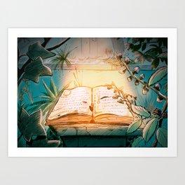 The lost Book Art Print