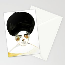 Serenity with Fluffy Afro Stationery Cards